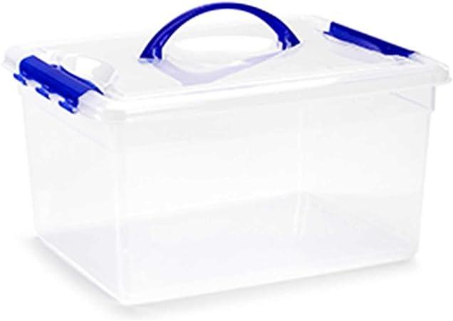 Acan Plastic Forte - Caja de ordenación 12 litros con Tapa Color Transparente: Amazon.es: Hogar