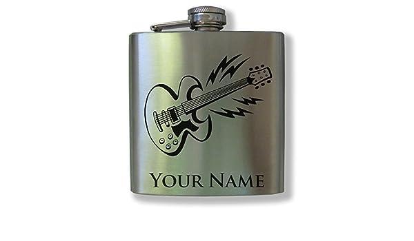 Personalizado termo de acero inoxidable - guitarra eléctrica - láser graba tu nombre para libre.: Amazon.es: Hogar