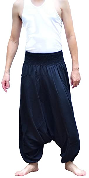ALIHAREMHOUSE Mens Yoga Baggy Hippie Boho Aladdin Alibaba ...