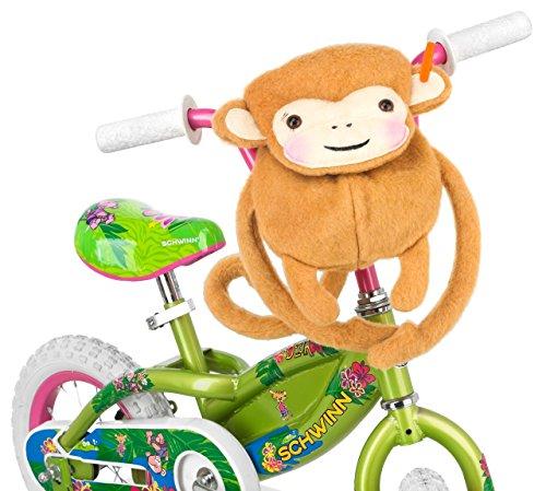 Schwinn Friends Monkey Handlebar Bike Bag for Kids Bicycle
