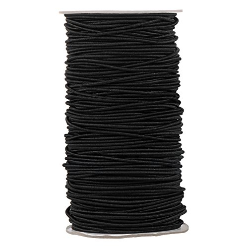 100 Yards 2 mm Elastic Cord Stretch String Elastic Beading Cord Craft Thread for Jewelry Making (Black)