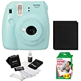Fujfiom Instax Mini 9 (Ice Blue) with 2 Pack Film and Photo Wallet