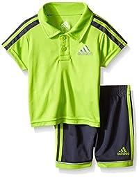 adidas Baby Boys\' Pitch Short Set, Semi Solar Slime, 18 Months