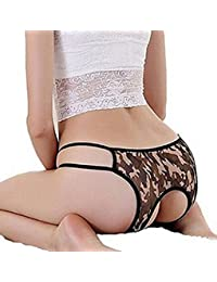 Sexy 3 Pack Women Crotchless Panties Thong G-string
