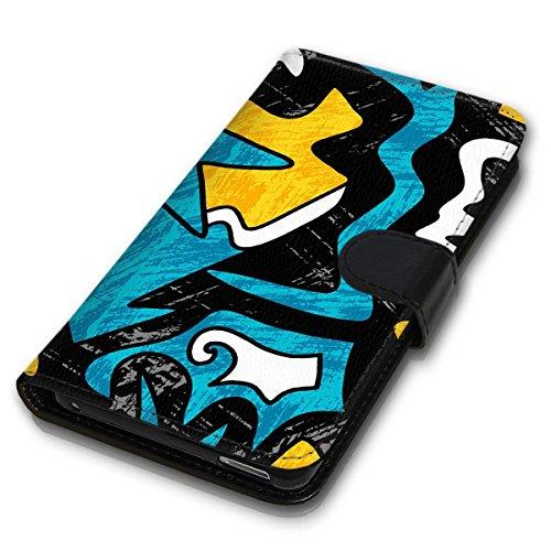 Wallet Book Style Flip Handy Tasche Case Schutz Hülle Schale Motiv Etui für Apple iPhone 4 / 4S - Design Flip MVD176