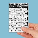 """Ukulele Chords Cheatsheet Laminated and Double Sided Pocket Reference 4""""x6"""" • Best Music Stuff"""