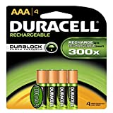 Duracell AAA Rechargeable Batteries (4 pack 1000 mAh)