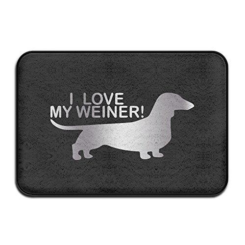 VDSEHT I Love My Weiner Platinum Style Non-slip Doormat