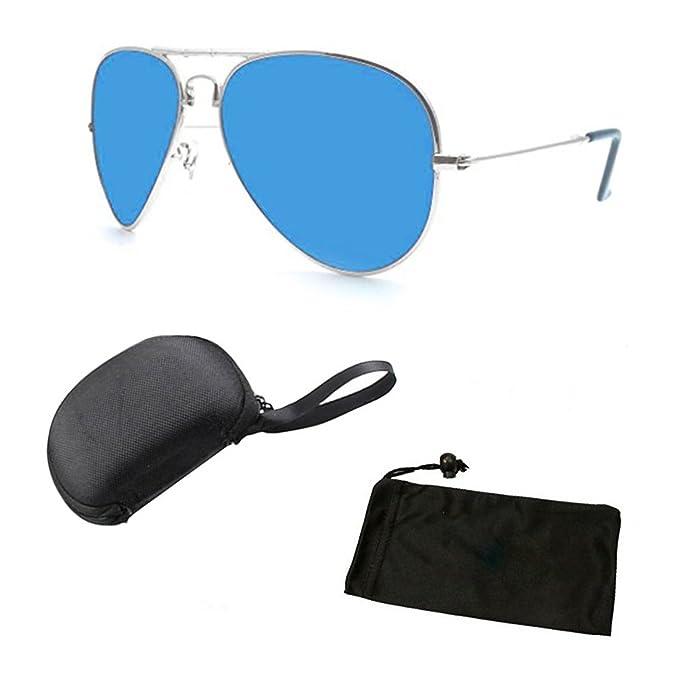 9763240e0c8 Polarized Lenses Aviator Folding Fold Up Sunglasses Glasses for Men Women +  Free Hard Case