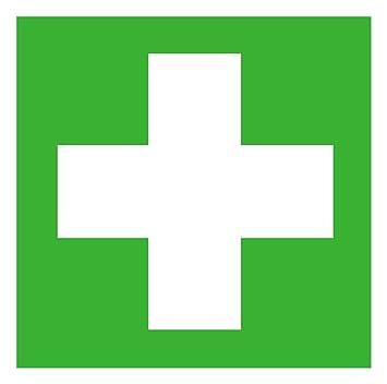Erste hilfe symbol  Rettungszeichen Symbolschild Erste Hilfe DIN Folie selbstklebend ...