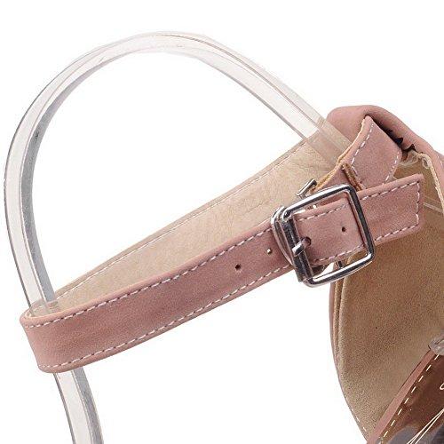 Unie Femme Boucle Correct Dépolissement CCAFLO013735 Abricot VogueZone009 Sandales Couleur Talon à 0PxdcSq6