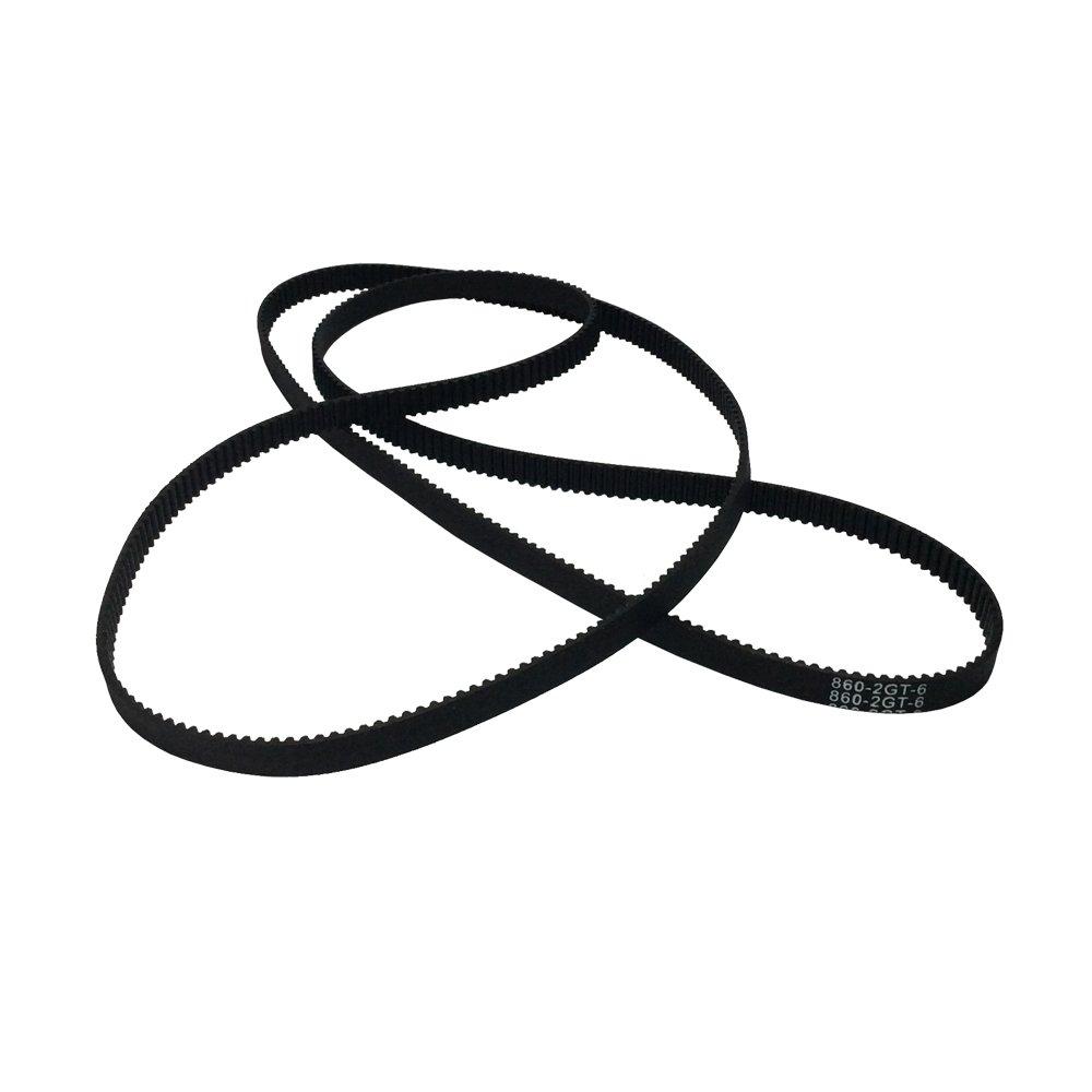 BEMONOC Pack of 2pcs 2GT Driver Belt 860-2GT-6 Timing Belt in Closed Loop Rubber L=860mm W=6mm 430 Teeth