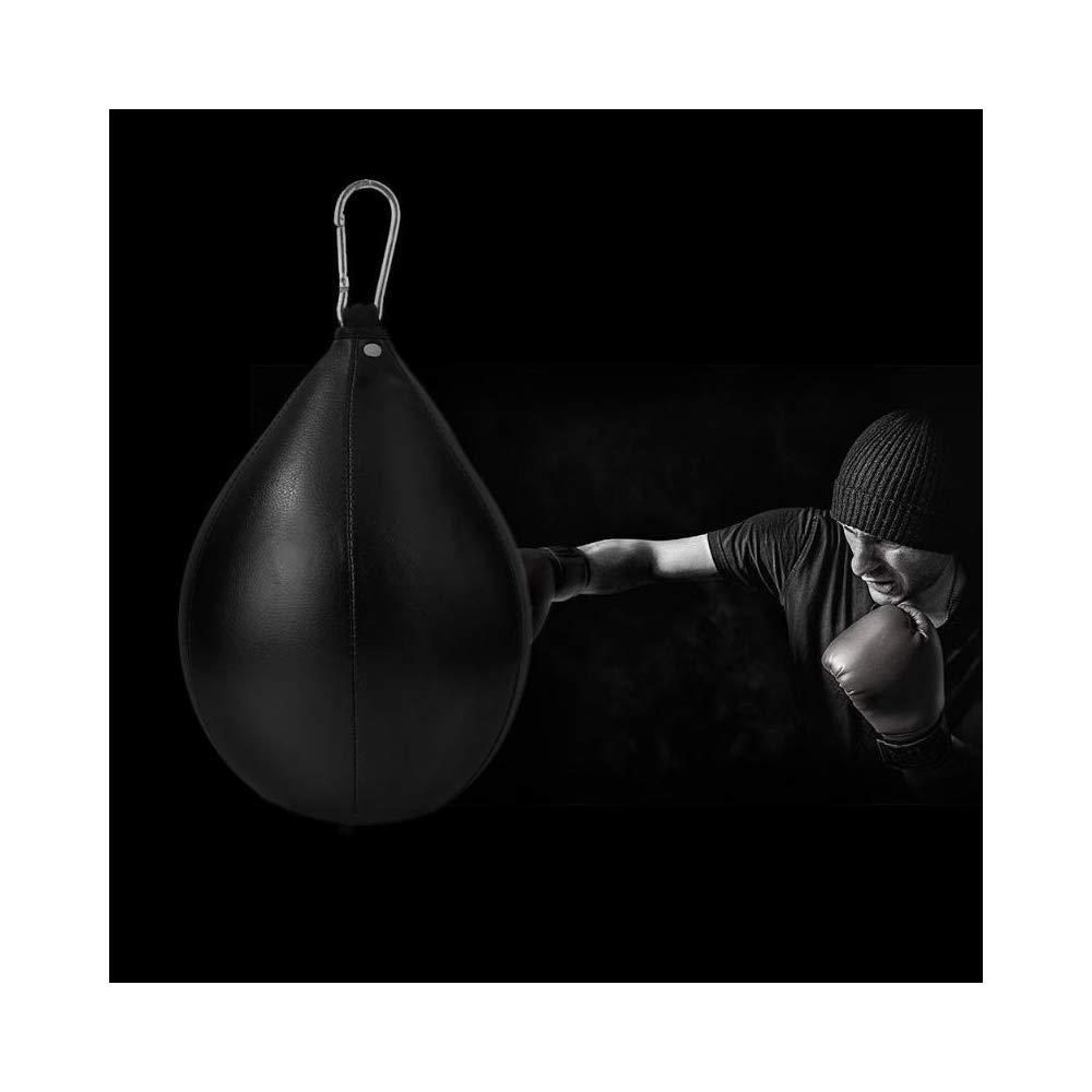 ZPASDQQE Boxeo Punch Bag Forma de Pera PU Cuero Speed Ball Swivel Boxing Punch Bag Punzonado Entrenamiento Speedball Ball Ball
