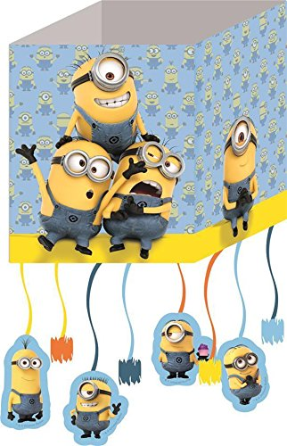 Procos Lovely Minions Pull String Party Pinata Bag]()