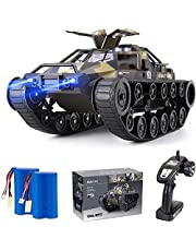 Stunt RC Car, 4WD 2.4GHz Remote Control Car With Gesture Control Band, Transforming toy with off road tires 360 turns with LED Lights RC drift cars for Boys Birthday (Blue)