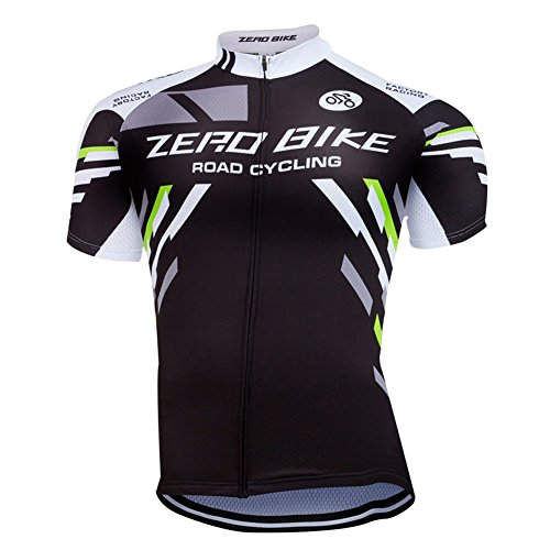 Coolmax Riding Shirt - ZEROBIKE Men's Short Sleeve Cycling Jersey Jacket Cycling Shirt Quick Dry Breathable Mountain Clothing Bike Top