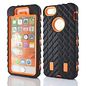 LX 2 in 1 Armor Robot Style PC and Sillcone Composite Case for iPhone 5/5S Cover Cases Color Purple
