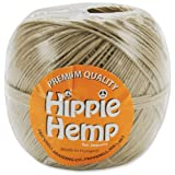 Pepperell Premium Quality Hippie Hemp Cord for Jewelry Making, 380-Feet, Natural