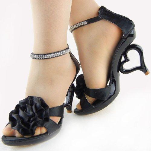 20 da dei Nero Story fiori cinturino alla caviglia scarpe SM33101 colori sposa removibile Mostra sandali sposa 75tZqH