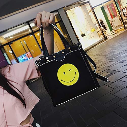 Messenger Sac Version Fille WSLMHH feu à Femme Petit Été Sac Sac Noir marée Super de l'épaule coréenne Sauvage bandoulière xF4wq6F