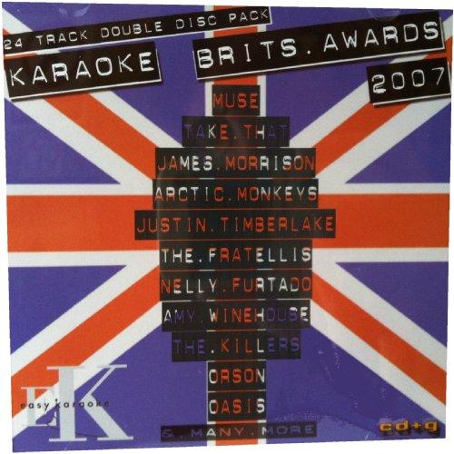 Karaoke Brit Awards 2007 by Easy Karaoke - 24 professional karaoke tracks...