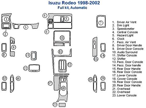 (Isuzu Rodeo Full Dash Trim Kit, Automatic - Walnut Burlwood)