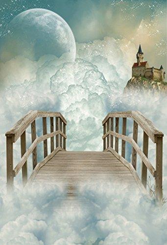 【あす楽対応】 Yeele 6 Heaven Backdrops 6 X 9ft/ 9ft Yeele 1.8 X 2.7 M階段をHeavenホワイトクラウド木製ブリッジ画像大人用宗教芸術的肖像写真の撮影小道具写真撮影背景壁紙 B07BY46ZZD, 照明 Lighting Market:6e1d162a --- by.specpricep.ru