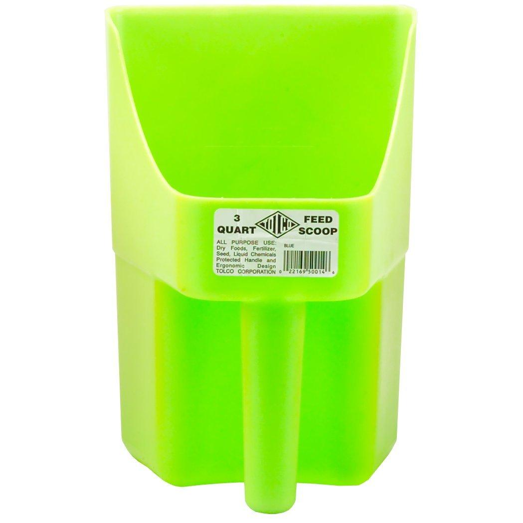 Tolco Heavy-Duty Plastic Scoop, 3 quart, Neon Green 290110
