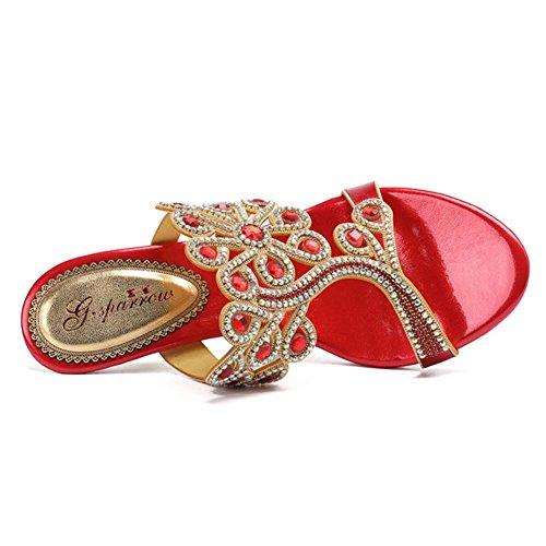 Verano Sandalias Estr de con Mujer sandals Women's de AOPqxX6