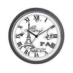 CafePress - EIFFEL TOWER - Unique Decorative 10 Wall Clock