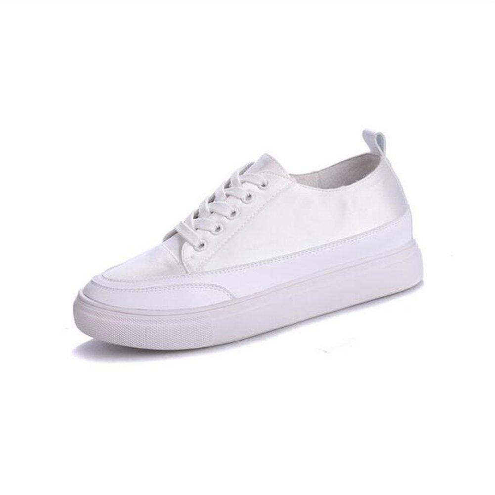 Exing damen Schuhe Höhe Erhöhen Weiße Schuhe Schnürschuhe Dicke Untere Leinwand Schuhe Akademie Freizeitschuhe