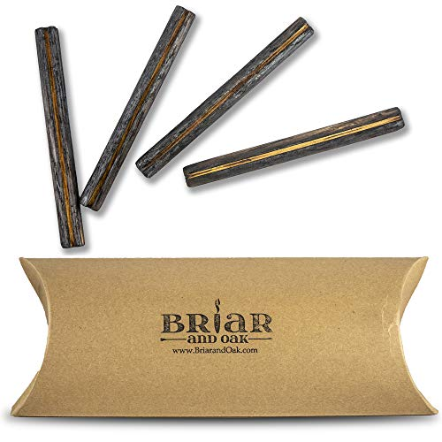 (Whiskey Aging Infusion Sticks - for Home Brewers, Charred Oak enhances flavors of your favorite Whiskey, Scotch, Wine, Beer or Moonshine! (4))