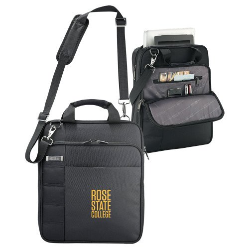 Rose State Kenneth Cole Black Vertical Checkpoint Friendly Messenger 'Primary Mark' by CollegeFanGear