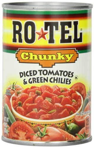 Ro-Tel  Chunky Diced Tomatoes & Green Chilies, 10-Ounce Cans (Pack of 12) Green Tomatoes Salsa