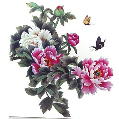 Nice WST 1 Pcs Waterproof Multicolored Color Peony Flower Series Butterfly Enlarge Pattern Tattoo Stickers supplier