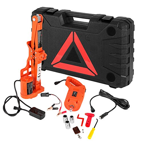 BestEquip Electric Car Jack 3 Ton 6600 LB Electric Scissor Jack 12V DC with Electric Impact Wrench Car Repair Tool for Sedans and Trucks by BestEquip (Image #1)