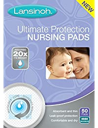 Lansinoh Ultimate Protection Nursing Pads, 50 Count, Day or Nighttime BOBEBE Online Baby Store From New York to Miami and Los Angeles