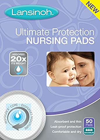 Lansinoh Ultimate Protection Nursing Pads, 50 Count, Day or Nighttime - Lansinoh Disposable Breast Pads
