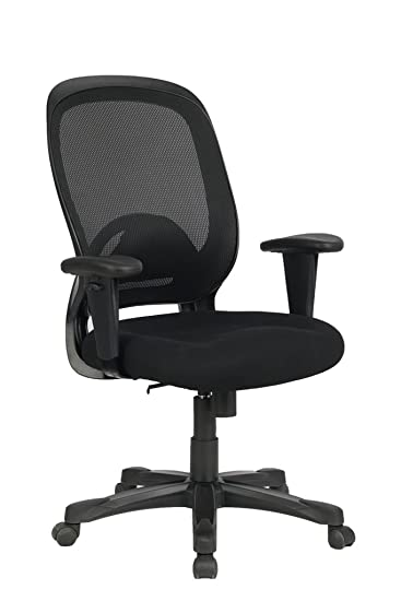 VIVA OFFICE Mid Back Nylon Base Adjustable Armrest Office Chair