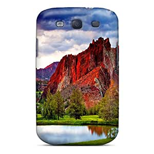 WilliamMendez Case Cover For Galaxy S3 - Retailer Packaging Red Rocky Mountain Protective Case