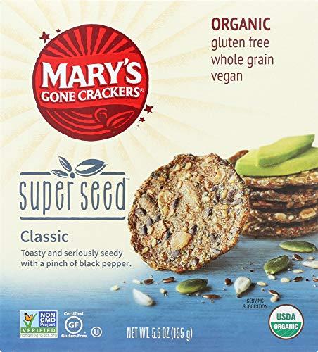 (NOT A CASE) Organic Gluten Free Super Seed Crackers