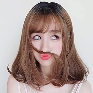Amazon Com Volume Short Black Wig Korean Princess Fluffy Curls