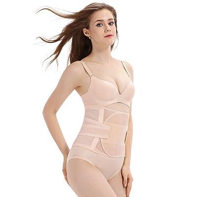 Abdomen de postparto para mujer embarazada con cinturón de verano delgado para mujer (blanco) (M): Ropa y accesorios