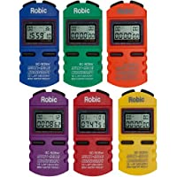 Robic sc-505W 12Cronómetro de Memoria (6Unidades), Varios Colores