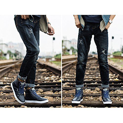 Shoes Men High Boot Chukka Up Top Lace Snow Boots Fur Ankle Winter Blue Sneakers Boots With Lining Gaorui SxPq1w1