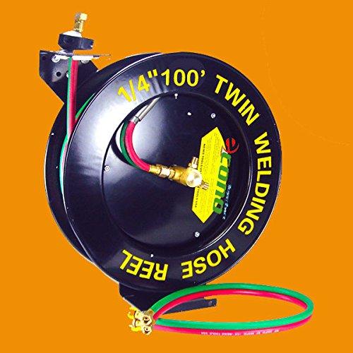 - Retractable Auto Rewind Welding Hose Reel Wall Ceiling W/100ft Oxygen Acetylene