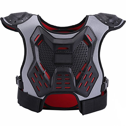 ZZ Lighting Kids Chest Protector Body Armor Vest Protective Gear for Dirt Bike Snowboarding Motocross Skiing, S