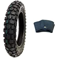 MMG Combo Knobby Tire with Inner Tube 2.50-10 Front or Rear Trail Off Road Dirt Bike Motocross Pit
