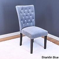Monsoon Markelo Tufted Velvet Dining Chairs (Set of 2) Grey