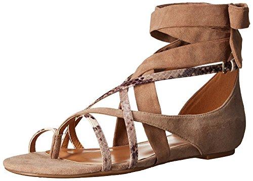 Nine West WomenS October Suede Flat Sandal, Light Natural Multi, 37 B(M) EU/5 B(M) UK